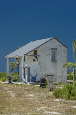dry tortugas: Close-up image of a barn in the island of Dry Tortugas Stock Photo
