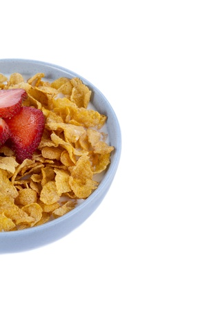 Cropped image of a bowl of cereals with strawberry toppings Stock Photo - 17251201