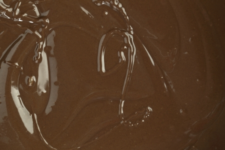 Horizontal image of delicious chocolate syrup as background