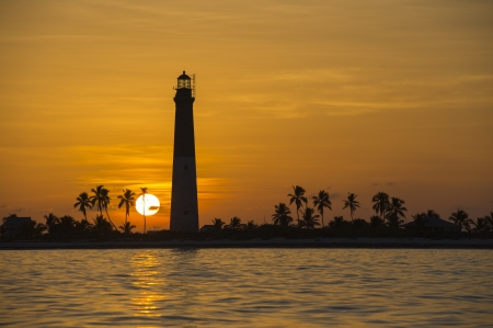 dry tortugas: Image of dry tortugas lighthouse on sunset Stock Photo