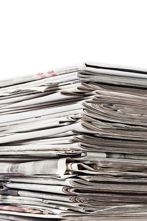 Collection of old newspapers for recycling Stock Photo - 17252240