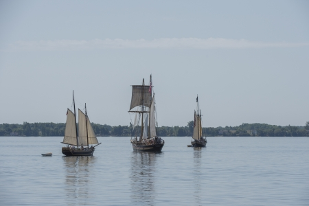 Image of ships from war of 1812 reenactment photo
