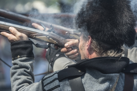 Shooting soldiers during the Civil war 1812 photo