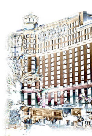 Vector image of Belagio hotel in Las Vegas, Nevada