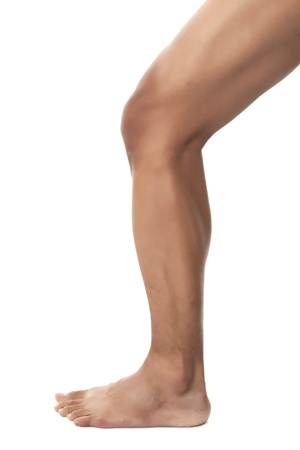 An image of a naked leg on a bended position Stock Photo - 17251965
