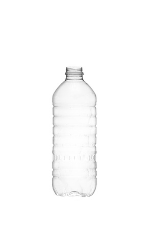 purified: Isolated image of an empty water bottle over a white background