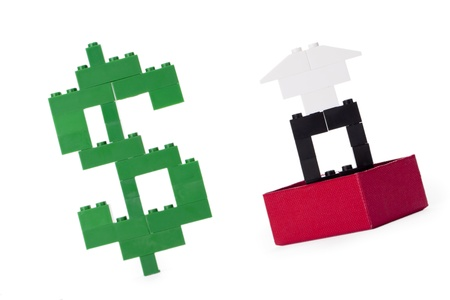 Concept of a million dollar diamond ring on a box, made of legos Stock Photo - 17252342