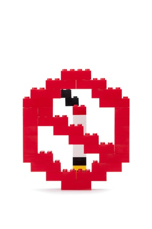 No Smoking Symbol Made Out Of Lego Bricks Stock Photo Picture And