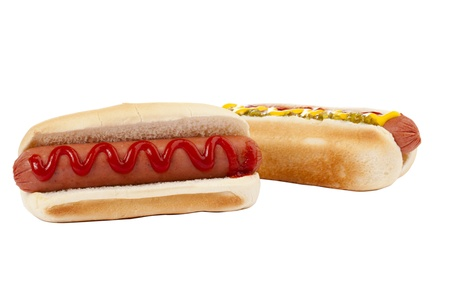 Hotdog Sandwiches in a close-up image Stock Photo - 17257958