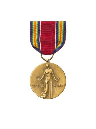 Close-up shot of a bronze world war medal. Stock Photo - 17258610