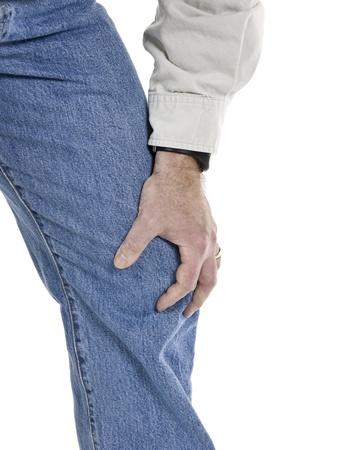 osteoarthritis: Uomo anziano con dolore osteoartrite