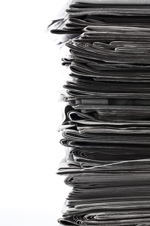 Stack of old newspaper for recycling. Stock Photo - 17258354