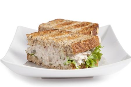 wheat toast: Tuna Whole Wheat Sandwich Stock Photo