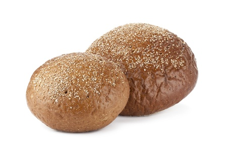 pumpernickel: Close up image of pumpernickel breads against white background