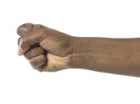 Close up image of human fist against white background Stock Photo - 17301512