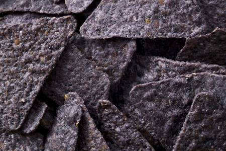Close up image of blue nachos chips Stock Photo - 17302404