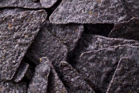 Close up image of blue nachos chips Stock Photo - 17302404