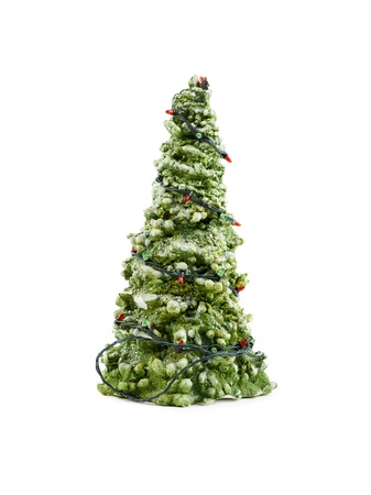 Christmas tree with christmas lights isolated on a white background Stock Photo - 17301777