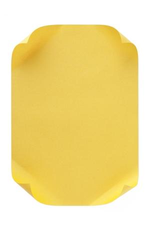 curled edges: La carta arricciata bordi giallo separate su uno sfondo bianco