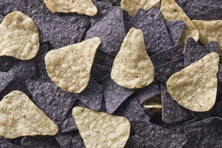 Close up image of blue nachos and tortilla chips Stock Photo - 17325779