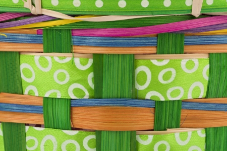 Extreme close-up shot of colorful wicker basket. Stock Photo - 17325428