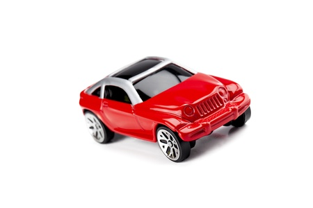 collectible: Close up image of collectible toy car against white background