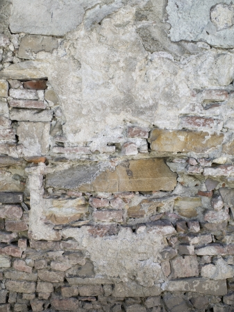 Old cement and brick wall isolated on Stock Photo - 17325949