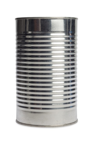 tin: Isolated image of an aluminum can over a white background
