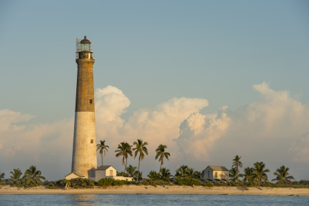 dry tortugas: Distance view of a Dry Tortugas Light on sunset Stock Photo