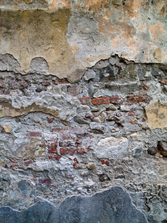 Color and extreme texture dominate this wall background image. Stock Photo - 17339274