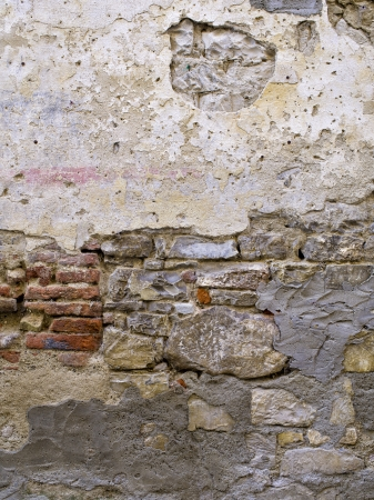 High definition photograph of a ancient worn wall in Italy shot in medium format Hasselblad and Phase One digital for maximum quality. photo