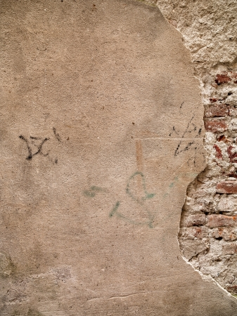 High definition photograph of a ancient worn wall in Italy shot in medium format Hasselblad and Phase One digital for maximum quality. Banco de Imagens - 17354621