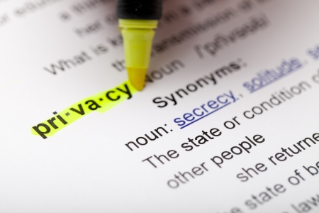 The word privacy after being highlighted