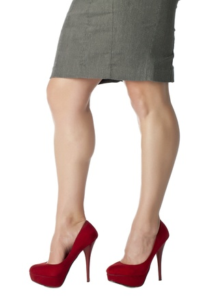 Beautiful woman legs with red high heel shoes Stock Photo - 17352081
