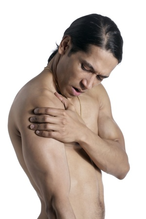 Mid adult man suffering pain from his arm Stock Photo - 17367476