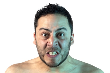 A man with an angry expression on his face Stock Photo - 17377061