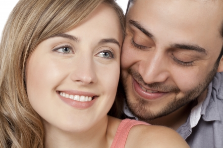 Portrait of beautiful woman and handsome man with a happy relationship Stock Photo - 17377512