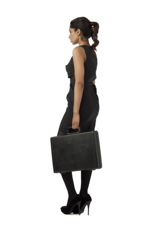 Sophisticated Indian woman holding a briefcase photo