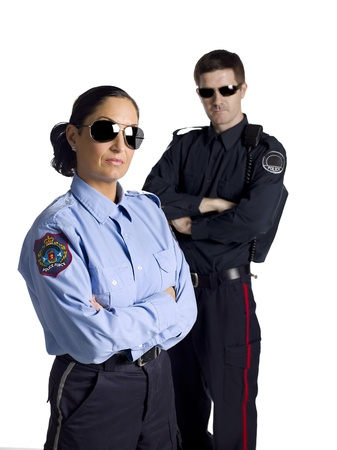 female police: Cool law officers wearing shades