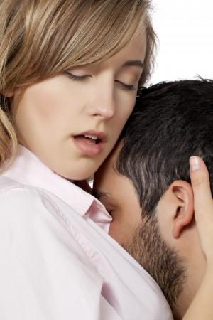 Image of a couple having an romantic scene photo