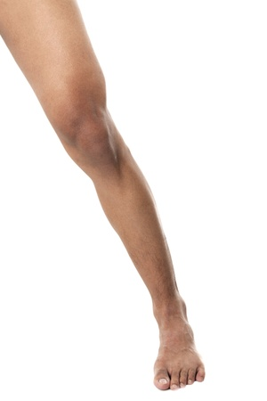 Portrait of human leg isolated on white background Stock Photo - 17396042