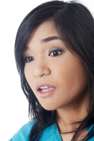 filipina: Filipina woman staring and open mouth