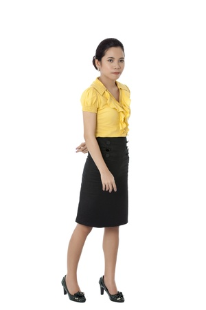 pinay: Serious Filipina woman in a business wear