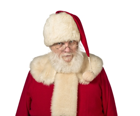 Portrait image of a senior man wearing Santa Claus costume. Model: Larry Lantz Stock Photo - 17390851