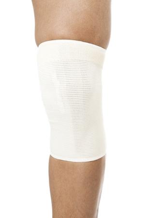 Close-up cropped image of a human leg with white medicine bandage, Model: Rodolfo Batalla Jr. Stock Photo - 17395856