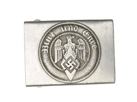 Close-up shot of German military belt buckle with swastika and eagle sign. Stock Photo - 17493035