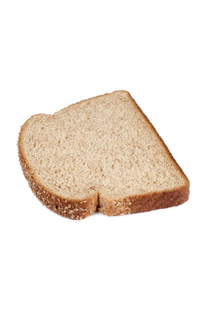 A piece of wheat bread isolated on a white background Stock Photo - 17493189