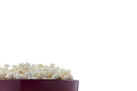 Cropped image of a pop corn bowl against white background Stock Photo - 17484930