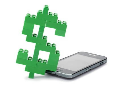 A million dollar cell phone on a white background Stock Photo - 17485770