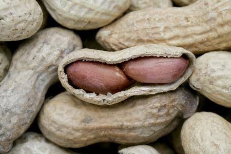 Close-up image of open peanut